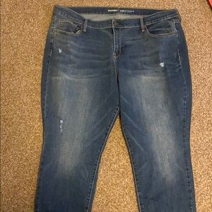 Mild distressed jeans old navy